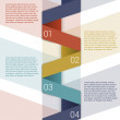 Modern Design Minimal style infographic template layout. Infographics, numbered banner, horizontal cutout lines, graphic or website layout vector. — Stock Vector
