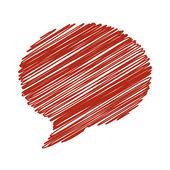 Рука рисовать речи пузырь. Векторные иллюстрации. — Cтоковый вектор