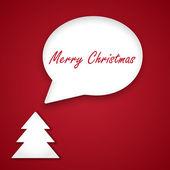 Christmas speech bubble. Vector background. — Stock Vector