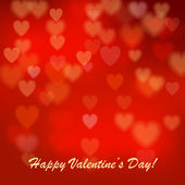 Valentine's day background with hearts. Postcard. Vector illustration. — Cтоковый вектор