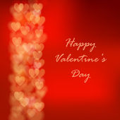Valentine's day background with hearts. Postcard. Vector illustration. — 图库矢量图片