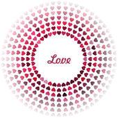Tender love background. Light background with heart. Vector illustration. — Stock Vector