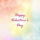 Valentine heart shaped lights tender background. Vector illustration. — Stock Vector