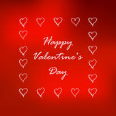 Valentine's day background with hearts. Vector illustration. — Vector de stock