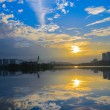 Sunrise at Putra Jaya with cool morning breeze — Stock Photo