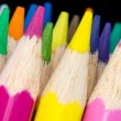 Macro image of color pencils — Stock Photo