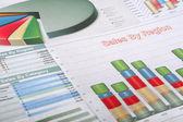 Tabelas e gráficos — Foto Stock