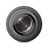 Camera photo lens. Vector Illustration — Stock Photo