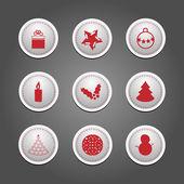 Aantal badges - christmas — Vector de stock