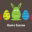 Stock Photo: Colorful easter card