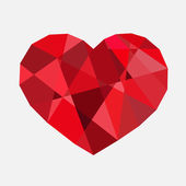 Vector diamond red heart — Stock Photo