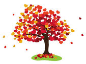 Sevgililer ağaç — Stok fotoğraf