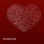 Abstract red heart — Foto de Stock