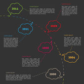 Vector Infographic timeline — Stock Vector