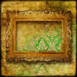 Retro luxury background with frame — Stock Photo