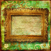 Retro luxury background with frame — Foto Stock