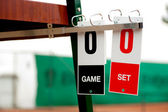 Tennis cards before start of the game — Stock Photo