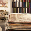 Interior of the carpet shop — Stock Photo