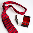 Gentleman's set: tie, watches and cufflinks — Stock Photo #35778787