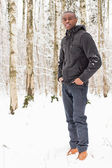 Siyah adam karda — Stok fotoğraf