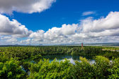 Landscape: lake and blue sky in tropics — Stock Photo