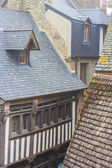 Roofs in the ancient castle — Stock Photo