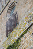 Brickwall and window in the castle — Stock Photo
