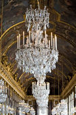 Crystal chandelier and painted ceiling — Foto de Stock