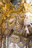 Regina camera da letto e gli elementi delle decorazioni — Foto Stock