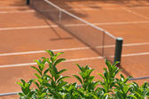 Tennis clay court with a grid — 图库照片