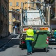 Urban recycling waste and garbage services — Stock Photo #30918611