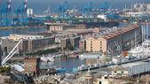 Genoa old harbor — Stock Photo