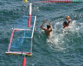 Wasserball-Torhüter in Aktion — Stockfoto