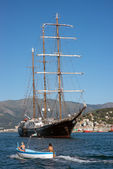 Large motor sailer — Stock Photo