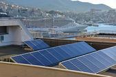 Energie der Sonne in der Stadt — Stockfoto