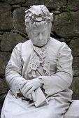 Elderly woman of marble — Stock Photo