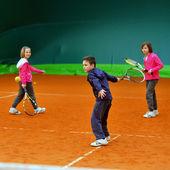 школа тенниса — Стоковое фото