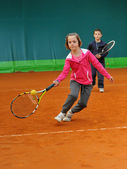 Tennis school — Stock Photo