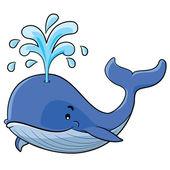 Whale Cartoon — Stock Vector