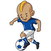Soccer Kid Cartoon — Vecteur