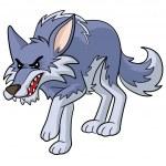 Wolf Cartoon — Stock Vector