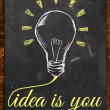 Idea is you wallpaper blackboard — Stock Photo