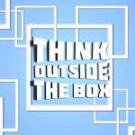 pensare all'esterno della scatola blu — Foto Stock