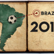 Brazil map 2014 world cup — Stock Photo