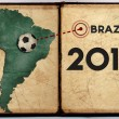 Stock Photo: Brazil map 2014 world cup