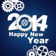 Happy new year gear 2014 — Stock Photo