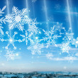 Snowing Above City background — Stock Photo #32930619