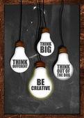 Think big , be creative — Stock Photo