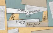 Neşeli noel kartı kağıt arka plan — Stok fotoğraf