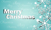 Christmas Greeting Snow Blue Background — Stock Photo